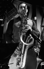 paul haywood with sax B&W 2